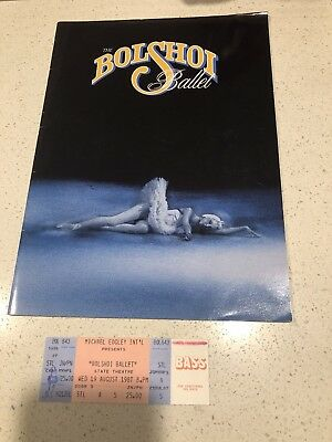 The Bolshoi Ballet- 1987 Program And Ticket