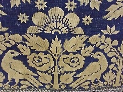 Important Indiana Antique Dated 1851 Enos Michael Woven Wool Coverlet ~ Gorgeous