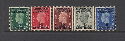 MOROCCO AGENCIES, SPANISH: 1937 KGVI definitives to 40¢ on 4d SG 165/8 £48, MLH.