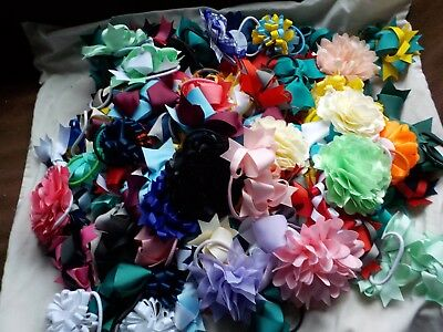 Wholesale job lot of 100 BN Hairbows mixed sizes/styles & colours on ponios