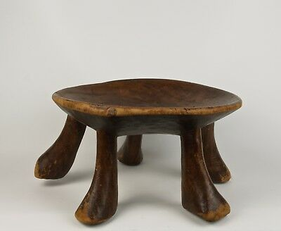 An Unusual Early 20th Century East African Tribal Stool - Five Leg Support.