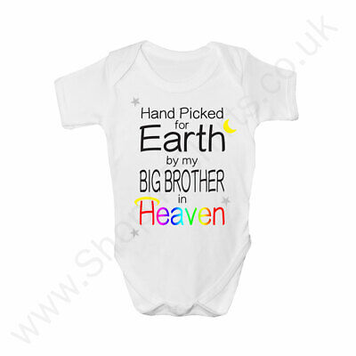 Rainbow Baby Clothes Custom Sent By My Big Brother//Sister In Heaven Baby Grow