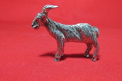 Pewter Goat Figurine With Nice Detail