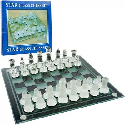 Elegant Glass Chess and Checker Board Set. Unbranded. Shipping Included
