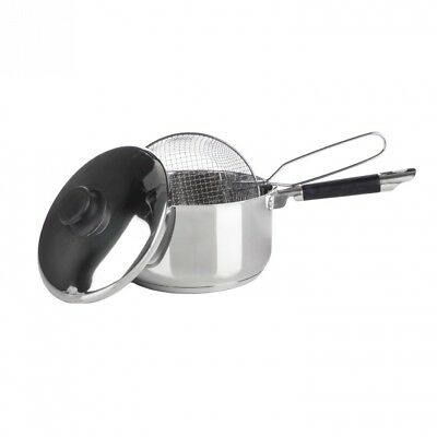 Premium Quality Induction Compatible Stainless Steel Chip Frying Pan Set With