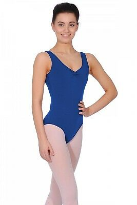 (Royal, Small) - Freed of London Bethany Ladies Tank Leotard. Delivery is Free