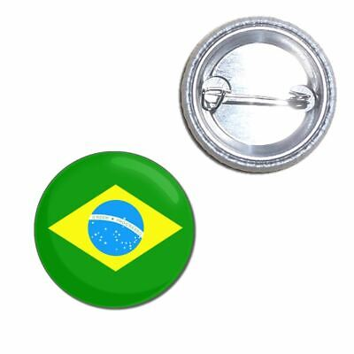 Brazillian 20 x Brazil Flag BUTTON PIN BADGES 25mm 1 INCH