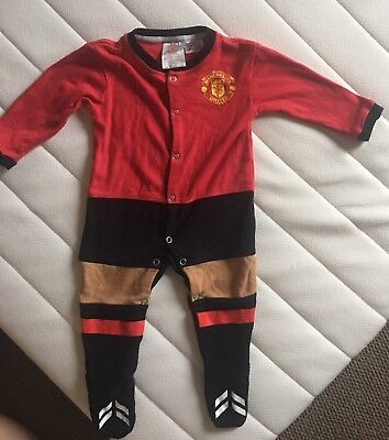 Official Manchester United Baby Grow Suit All In One Body Suit Unisex Boy Size 0