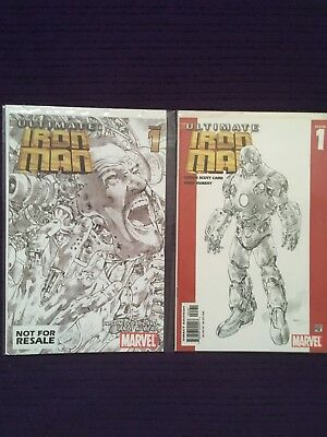 Marvel Comics - Ultimate Iron Man - Issue 1 - May 2005! 2 cover variant bundle