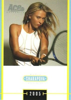 2005 Limited Maria Sharapova Acp Authentic Special Edition #ms-44 Rc Tennis Card