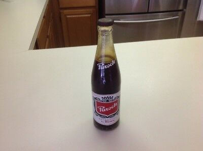 HIres Purock Soda Bottle From 1957  12 Oz Bottle With ACL Label Full Bottle