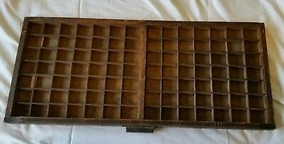Vintage wooden letterpress printers tray / drawer display cabinet98 Sections