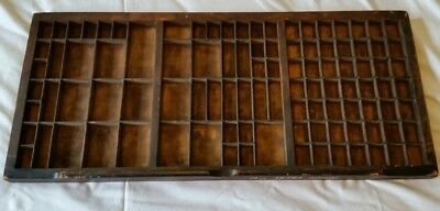 Vintage wooden letterpress printers tray / drawer display cabinet102 Sections