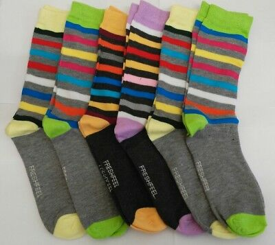 Ladies Stripe Design Socks UK 4-7, work, funky, casual, Socks, Ladies Socks