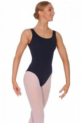 (Night Blue, X-Small) - Repetto Ladies Sleeveless Leotard. Free Shipping