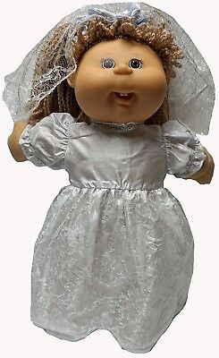 Wedding Dress With Veil Fits Cabbage Patch Kid Dolls. Doll Clothes Super store