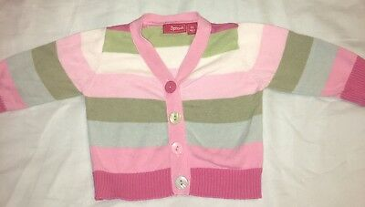 Sprout Baby Girl Cute Cardi Cardigan Stripe Pink