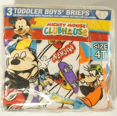 New Mickey Mouse Clubhouse Toddler Boy Briefs 4T (Pack of 6)