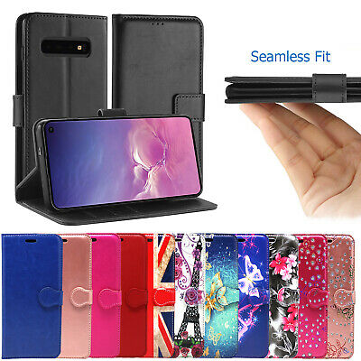 FOR Samsung Galaxy S10  S9 S8 Plus S7 Edge FLIP LEATHER WALLET  Phone Case Cover
