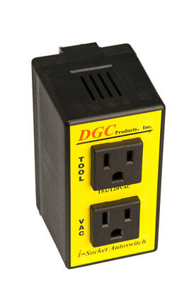 DGC Products 2 outlets I-Socket Autoswitch Black/Yellow Model IS110M