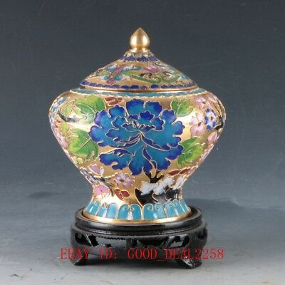 Chinese Cloisonne Hand Carved  Flower Pots DY336