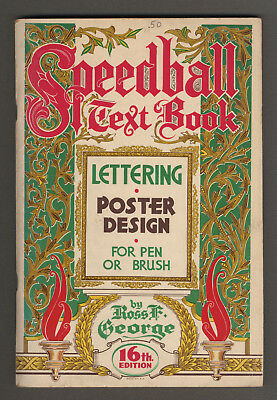 1952 Speedball Text Book Lettering & Poster Design, 16th Edition