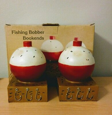 Pair of Fishing Bobber Bookends Cracker Barrel Exclusive NEW in Box