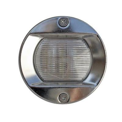 Stainless Steel Round LED Stern White Transom Light for Boats - Five Oceans