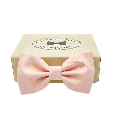 Handmade Bow Tie in Pale Peach Gift Boxed Adult & Junior sizes available