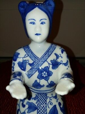Beautiful Vintage Porcelain Ceramic Asian Oriental Lady Woman Kneeling Praying
