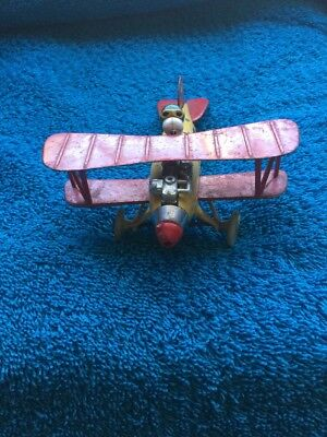 """Vintage AVIVA Toy Co Snoopy 1975 airplane made in Hong Kong """"Peanuts Snoopy"""""""
