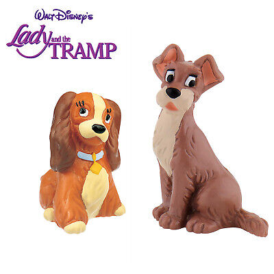 BULLYLAND DISNEY LADY AND THE TRAMP FIGURES - Lady and The Tramp