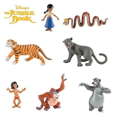 BULLYLAND DISNEY JUNGLE BOOK FIGURES -  Full set of 7 figures including Baloo