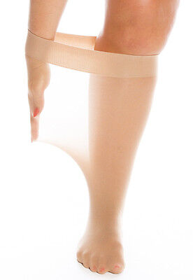 Plus Size Knee Highs with an extra wide, deep band - stretch 75cms/29 inches.
