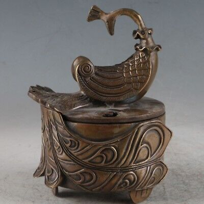 Chinese Brass Peacock Incense Burner Made During The Qianlong Period TQ029