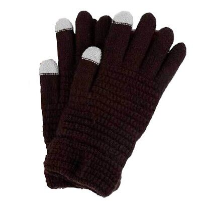 (Coffee) - Unisex Winter Warmer Touchscreen Gloves Knitted Touch Screen Gloves