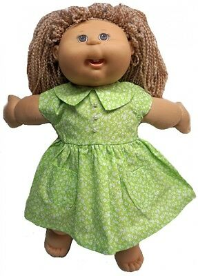 Lime Green Adorable Dress For Cabbage Patch Kid Dolls. Doll Clothes Super store