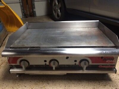 """36"""" FLAT GRIDDLE GRILL Used COMMERCIAL RESTAURANT HEAVY DUTY PROPANE"""
