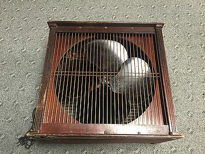 "40-50's Emerson Electric 16"" Variable Speed Box Fan Type 93648-AA Works Great!"