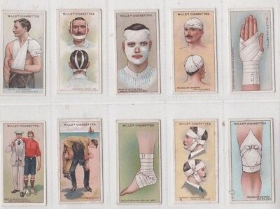 Wills First Aid Series 50 Complete Set 1913 Medical Cigarette Cards