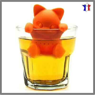 Chat Infuseur Infusion Thé Filtre Boule Chats Tea Cat Silicone