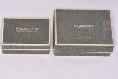 Lot of Large and Small Dated 1928 Antique Walgreen Co. Drug Boxes 90 Years Old