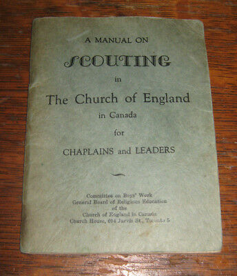 A Manual on Scouting in the Church of England  for Chaplains and Leaders 1944