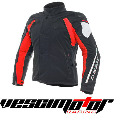 Giacca Dainese Rain Master D-Dry Jacket Black/Glacial-Gray/Red Tg. 52 (N/GG/R)