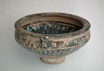 Antique Islamic Medieval Sultanabad Pottery Bowl 13th century AD 7th century AH