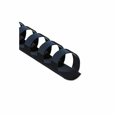 Fellowes Plastic Comb Bindings 0.375 Inch 55-Sheet Capacity Black - 25 Pack