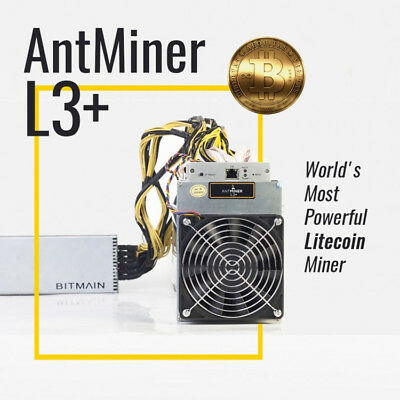 New Bitmain Antminer L3+ 504 MH/s Scrypt/Litecoin Miner PSU APW3++ - March Batch