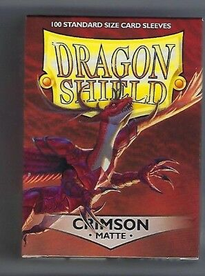AT-11221 Dragon Shield Matte Crimson 60ct Standard Sized Sleeves New