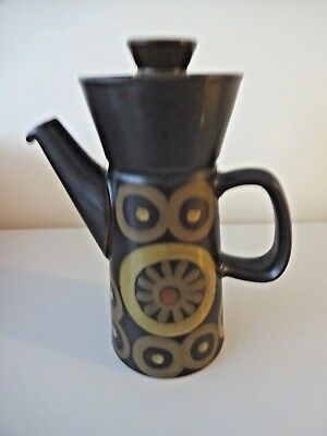 Vintage 1970s Denby ARABESQUE Ceramic Coffee Pot Kitchenalia Home Industrial