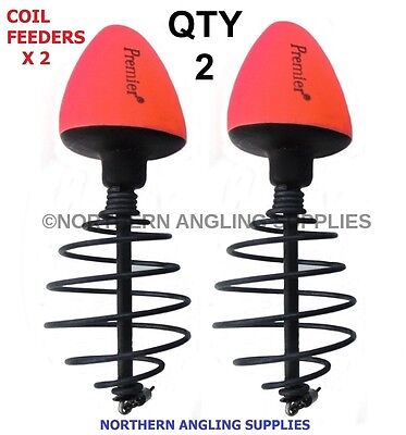 Qty 2 Coil Surface Feeder Floats Carp